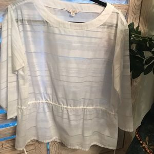 Gap blouse with waist tie pull string